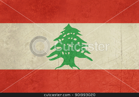 Grunge Lebanon Flag stock photo, Grunge sovereign state flag of country of Lebanon in official colors. by Martin Crowdy