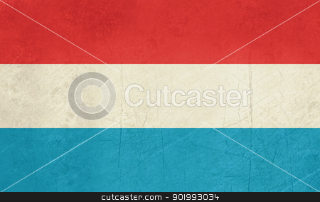 Grunge Luxembourg Flag stock photo, Grunge sovereign state flag of country of Luxembourg in official colors. by Martin Crowdy