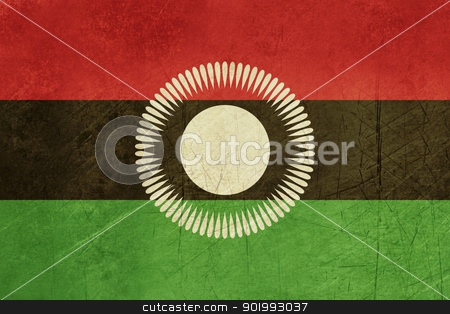 Grunge Malawi Flag stock photo, Grunge sovereign state flag of country of Malawi in official colors. by Martin Crowdy