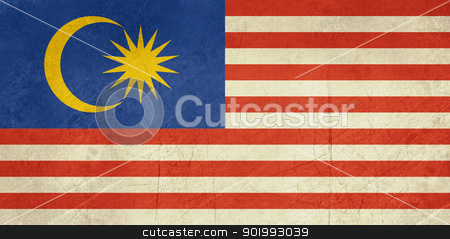 Grunge Malaysia Flag stock photo, Grunge sovereign state flag of country of Malaysia in official colors. by Martin Crowdy