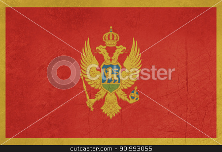 Grunge Montenegro Flag stock photo, Grunge sovereign state flag of country of Montenegro in official colors. by Martin Crowdy