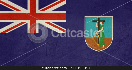 Grunge Montserrat Flag stock photo, Grunge sovereign state flag of dependent country of Montserrat in official colors.  by Martin Crowdy
