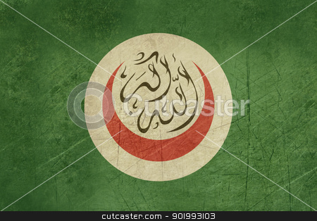 Grunge Organization of Islamic Coopreration stock photo, Grunge background flag of the Organisation or Organization of Islamic Cooperation by Martin Crowdy