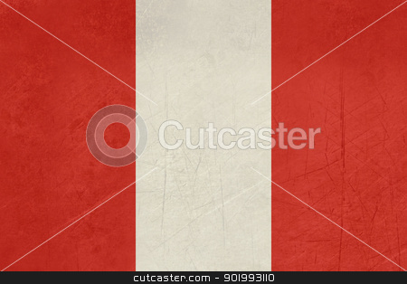 Grunge Peru Flag stock photo, Grunge sovereign state flag of country of Peru in official colors. by Martin Crowdy