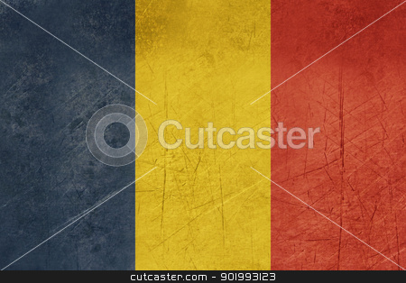 Grunge Romania Flag stock photo, Grunge sovereign state flag of country of Romania in official colors. by Martin Crowdy