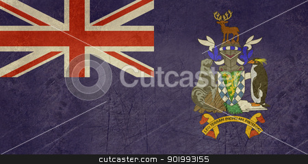 Grunge south Georgia Flag stock photo, Grunge sovereign state flag of dependent country of South Georgia and the Sandwich Islands in official colors. by Martin Crowdy