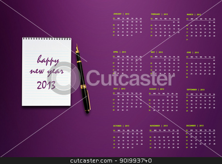 New year 2013 Calendar stock photo, New year 2013 Calendar with conceptual image of new year greeting. by Designsstock