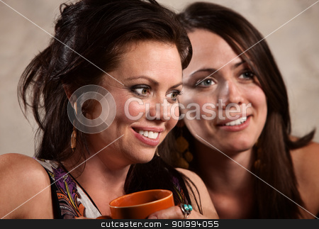 Close Up of Good Friends stock photo, Close up of pretty friends sitting together by Scott Griessel