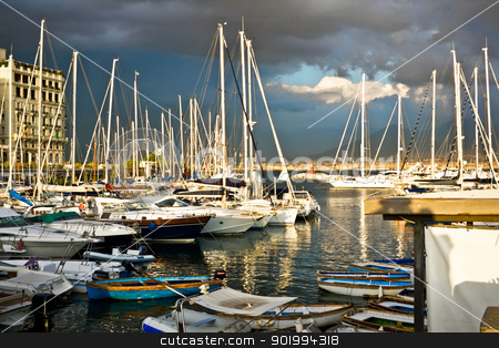 Yachts stock photo, Old port of naples by Alexey Popov