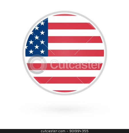 United States Button stock vector clipart, United States Button by Erdem