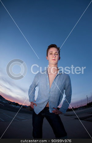 Handsome Young Man stock photo, Handsome young Caucasian man in a outdoor location by Scott Griessel