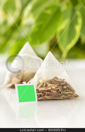 tea bag stock photo, Teabag on the table by manaemedia