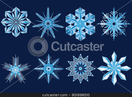 snowflake stock vector clipart,  by STAR ILLUSTRATION