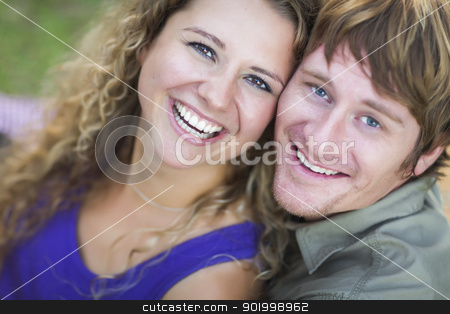 An Attractive Couple Enjoying A Day in the Park stock photo, An Attractive Couple Enjoying A Day in the Park Together. by Andy Dean
