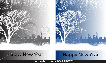 happy new year stock vector clipart,  by zhal