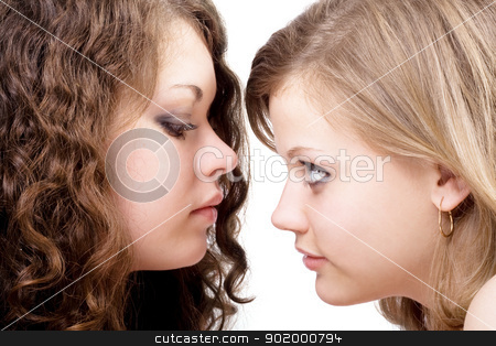 Two sexy beauty young women. Isolated 1 stock photo, Two sexy beauty young women. Isolated 1 by Sergii Sukhorukov