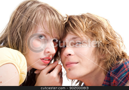 Portrait of smiling young beauty couple 5 stock photo, Portrait of smiling young beauty couple 5 by Sergii Sukhorukov