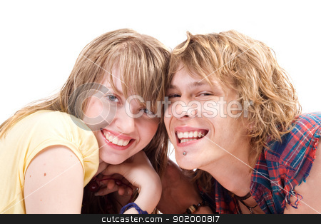 Portrait of smiling young beauty couple 7 stock photo, Portrait of smiling young beauty couple 7 by Sergii Sukhorukov