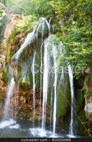Waterfalls of Dzhur-dzhur in Crimean mountains stock photo, Waterfalls of Dzhur-dzhur in Crimean mountains by Sergii Sukhorukov