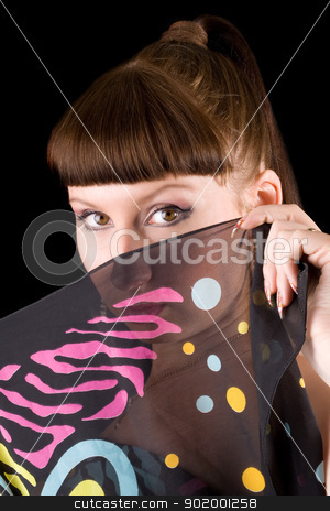 portrait of the young woman. Isolated on black background stock photo, portrait of the young woman. Isolated on black background by Sergii Sukhorukov