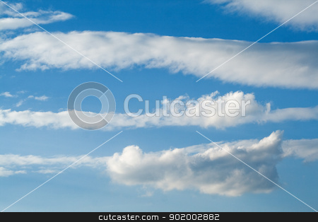 Blue sky and clouds stock photo, Blue sky and clouds background by Sergii Sukhorukov