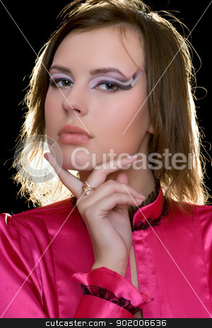 beautiful young woman stock photo, Closeup portrait of a beautiful young woman by Sergii Sukhorukov