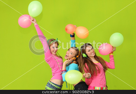kids party stock photo, happy kids singing at party by mandygodbehear