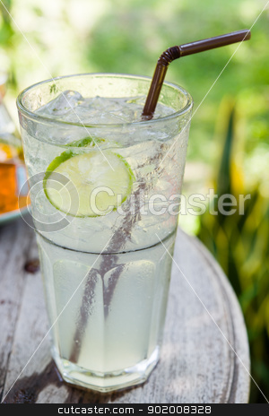 juice lemon soda mix on table stock photo, juice lemon soda mix on table in afternoon time by moggara12