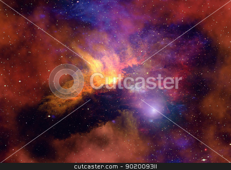 Space stars and nebula stock photo, Far space being shone nebula as abstract background by Anatolii Vasilev