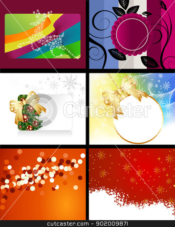 Christmas Designs stock photo, Set of Christmas Designs and backgrounds . by Nabeel Zytoon