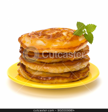 Pancakes   stock photo, Pancakes  stack on white background by Natika