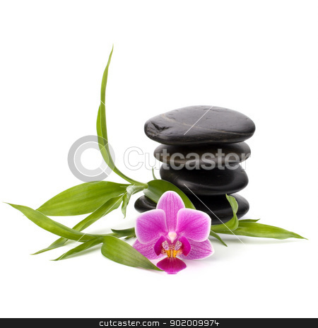 Zen pebbles balance. Spa and healthcare concept. stock photo, Zen pebbles balance. Spa and healthcare concept. by Natika