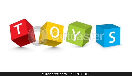 illustration of toy blocks stock vector clipart, illustration of toy blocks - vector illustration by Ilyes Laszlo