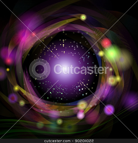 abstract rotation of pinstripe stock photo, Colorful lines rotate around the mid-point of the universe  by hitus