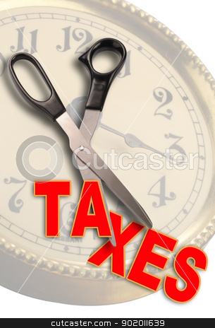 Slash taxes. stock photo,  by WScott