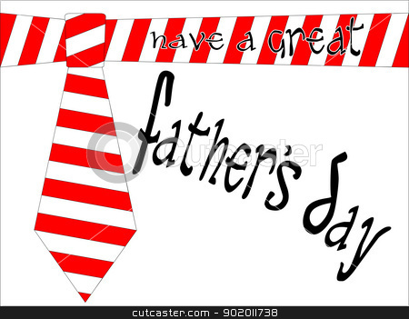 Father's Day Tie. stock vector clipart, A father's day tie with original editable vector text. by Kotto