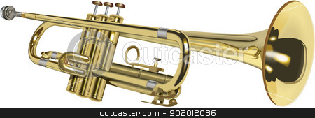 trumpet stock vector clipart,  by STAR ILLUSTRATION