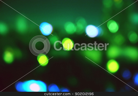 Night.  stock photo, Blurred image of the night city. lamps are reflected in puddle. by Natalia Konstantinova