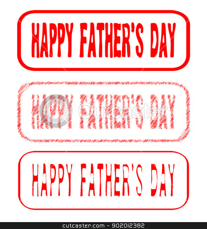 Happy Fathers Day Stamps stock vector clipart, Happy Fathers Day Rubber Stamp Collection by Kotto