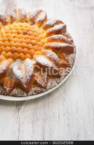 Pumpkin cake stock photo, Slice of cake to the pumpkin on dish by Giordano Aita