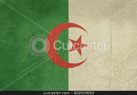 Grunge Algeria Flag stock photo, Grunge sovereign state flag of country of Algeria in official colors. by Martin Crowdy