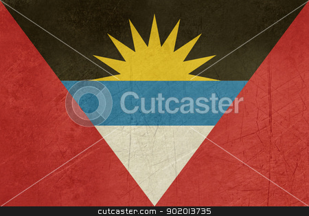 Grunge Antigua and Barbuda flag stock photo, Grunge sovereign state flag of country of Antigua and Barbuda in official colors. by Martin Crowdy