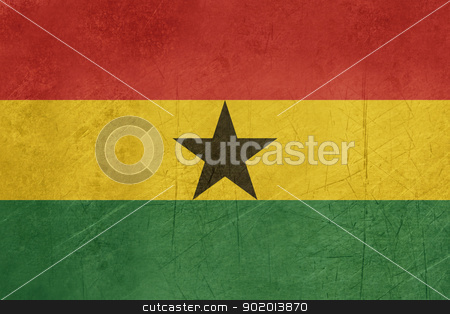 Grunge Ghana flag stock photo, Grunge sovereign state flag of country of Ghana in official colors. by Martin Crowdy