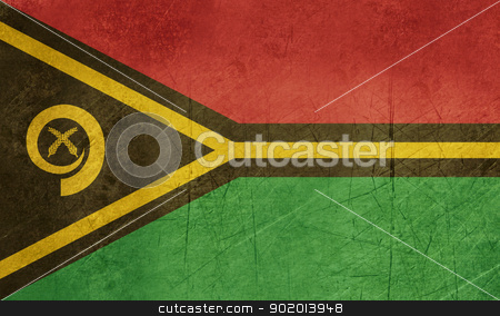Grunge Vanuatu Flag stock photo, Grunge sovereign state flag of country of Vanuatu in official colors.  by Martin Crowdy