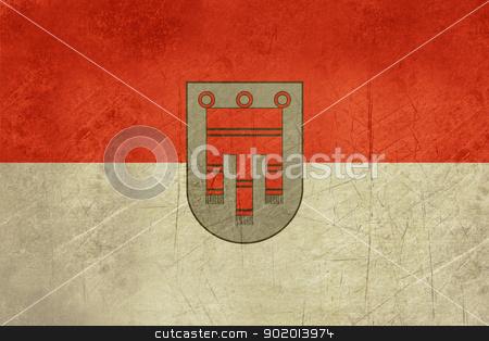 Grunge Vorarlberg state flag of Austria stock photo, Grunge official state flag of Vorarlberg in Austria.  by Martin Crowdy