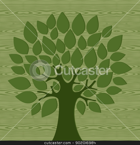 Eco friendly conceptTree stock vector clipart, Eco friendly tree over wooden pattern background. Vector file layered for easy manipulation and custom coloring. by Cienpies Design