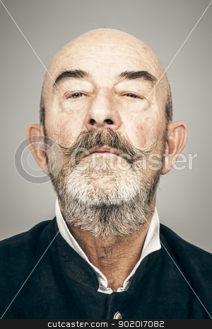 old man stock photo, An old man with a grey beard by Markus Gann