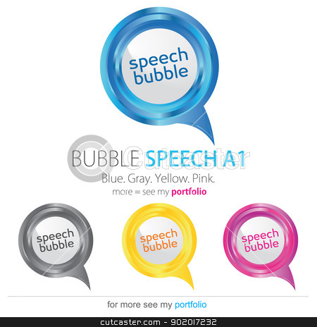 Bubble speech, vector stock photo, Vector image for various applications: websites, print, icons, logo, sign, advertising, business, internet and other uses. Vector can adjust color to your liking. Speech Bubbles. by Milan Gudba