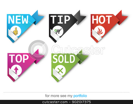 Corner ribbons-Sign-Symbol-Vector-New,Sold,Hot,Sale stock photo, Vector image for various applications: websites, print, icons, logo, sign, advertising, business, internet and other uses. Vector can adjust color to your liking. Ribbon. by Milan Gudába