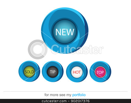 Circle buttons (Text Area) stock photo, Vector image for various applications: websites, print, icons, logo, sign, advertising, business, internet and other uses. Vector can adjust color to your liking. by Milan Gudába